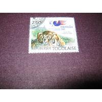 Марка - фауна тигр Того