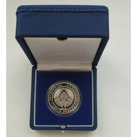 Футляр для монеты с капсулой 37.00 mm (1 руб., NiCu или 10 руб., Ag) синий с замком