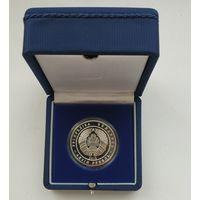 Футляр для монеты (1 руб., NiCu или 10 руб., Ag) D-36,5 mm (капсула) синий с замком