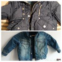 Куртка джинсовая утепленная р. 110-116 см