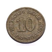 DEUTSCH REICH 10 PFENNIG! 1900 ГОД