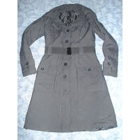 Пальто на синтепоне с широким поясом резинка