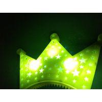 Большая сверкающая корона led c 3 режимами свечения