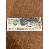 Намибия 2000. Деревья. Ficus sycomorus. Марка из серии