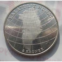 Дания, 2 кроны, 1953, серебро