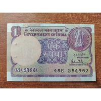 Индия 1 рупия 1989 UNC