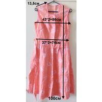 Платье летнее с пояском, розовое, новое, ситец из СССР