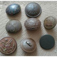 Пуговицы старинные царские 8 шт +1 Сборный лот