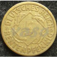 3322: 5 рентных пфеннигов 1924 J Германия