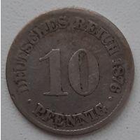 Распродажа - Германская Империя_10 пфеннигов 1876 (С)_km#4_(1873–1889 г)