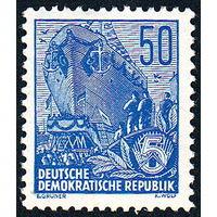 139: Германия (ГДР), почтовая марка, 1955 год