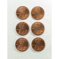 1 цент США 2011. Поштучно