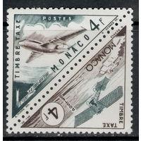 Монако /1953/ Самолеты / Транспортные средства / 2 Треугольные Марки в сцепке