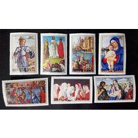 Монголия 1972 г. Живопись Венеции. Искусство, полная серия из 7 марок. Чистые #0083-Ч1P6