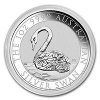 1 доллар Австралия лебедь 2021 серебро 1 oz