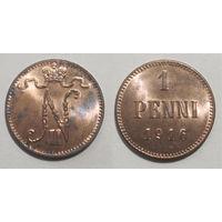 1 пенни 1916 aUNC
