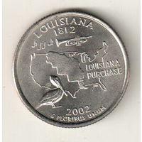 США квотер 2002 штат Луизиана