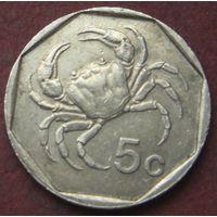 6550:  5 центов 1991 Мальта