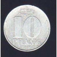 10 пфеннигов Германия (ГДР) 1968_Лот #0337