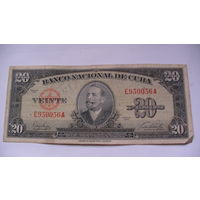 Куба 20 песо 1949г. Е950056А . распродажа