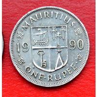 33-42 Маврикий, 1 рупия 1990 г.