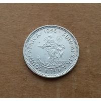 Южная Африка, шиллинг 1956 г., серебро, Елизавета II