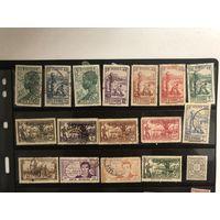Большой лот марок французской оккупации Кот-д'Ивуар.  Много чистых дорогих марок. Все на фото!  С 1 руб!