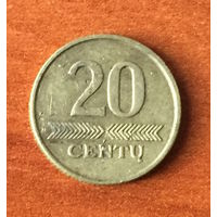 Литва, 20 центов 2007