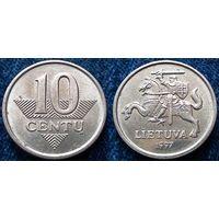 W: Литва 10 центов 1997 (380) остатки блеска