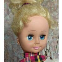 Шикарная синеглазая кукла,58см,СССР или ГДР,с механизмом