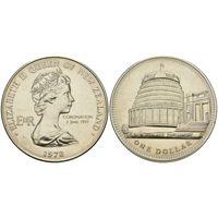 Новая Зеландия 1 доллар 1978 25 лет коронации Елизаветы II UNC