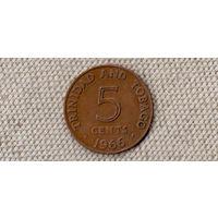 Тринидад и Тобаго 5 центов /1966/ KM# 2