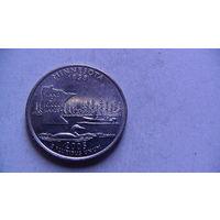 США 25 центов 2005г  MINNESONTA  распродажа