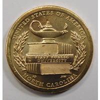 США 1 доллар 2021 Первый государственный университет Северная Каролина Американские инновации (13-я в серии) двор  D
