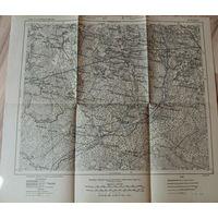 Оригинальная немецкая карта по ПМВ ниже Баранович(Липск Кривошин) 1915г