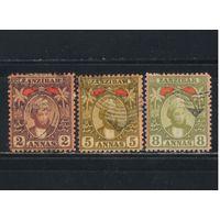 GB Протекторат Занзибар 1898 Султан Сейд Хамид ибн Баргаш аль-Бусаид Стандарт #43,48,50