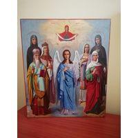 Икона Избранные Святые. Семейная. Подписная