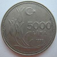 Турция 5000 лир 1992 г.
