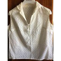 Блуза женская ришелье 46 ГДР 70-е гг