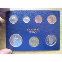 Нидерланды годовой сет монет 1980 в банковской упаковке - UNC