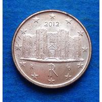 Италия 1 евроцент 2012