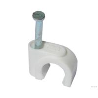 Скоба пластиковая для крепления кабеля 8 мм 50 шт в пачке
