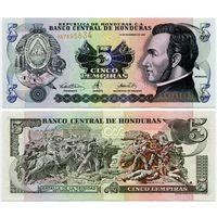 Гондурас. 5 лемпир (образца 2000 года, P85a, UNC)