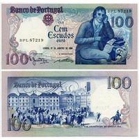 Португалия. 100 эскудо (образца 1984 года, P178c, подпись 5, UNC)