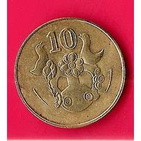 36-28 Кипр, 10 центов 2004 г.