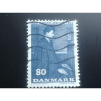 Дания 1966 живописный портрет