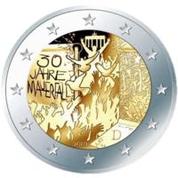 2 евро 2019 Германия А 30 лет падения Берлинской стены UNC из ролла НОВИНКА