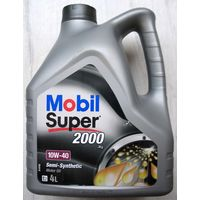 Моторное масло Mobil Super 2000 10W-40 X1 4 л, Англия