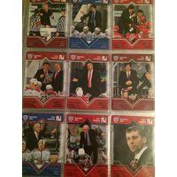 Хоккейные карточки. 36 штук. КХЛ. Тренеры 2013. Sereal.