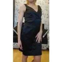 Красивое коктейльное черное платье размер S 44